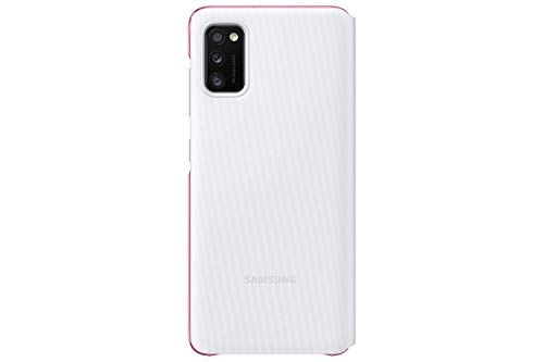 Samsung S View Smartphone Cover EF-EA415 für Galaxy A41, Handy-Hülle, stoßfest, Schutz Case, integriertes Sichtfenster weiß