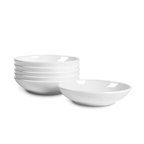 Delling 3.5 Oz Ceramic Dip/Dipping Bowls Set-White Dipping Soy Sauce Bowl/Dishes - Small Snack Bowls/Cups for Sushi Sauce, Soy, BBQ Dishes-Chip and Dip Serving Set - Set of 6