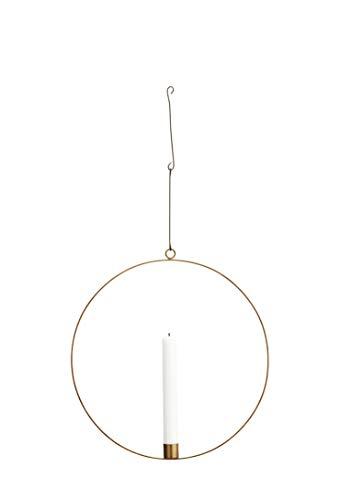 Madam Stoltz Metallring Kerzenhalter in Kupfer für eine Stilkerzen mit Einem Durchmesser von 30cm