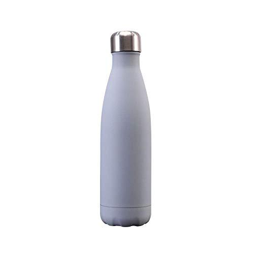 Yidieman Hoja Flor Botella de Agua de Acero Inoxidable Botella de Bebidas aislada Mantener 12 Horas Caliente y 24 Horas a Prueba de Fugas en frío Sin BPA -500ml