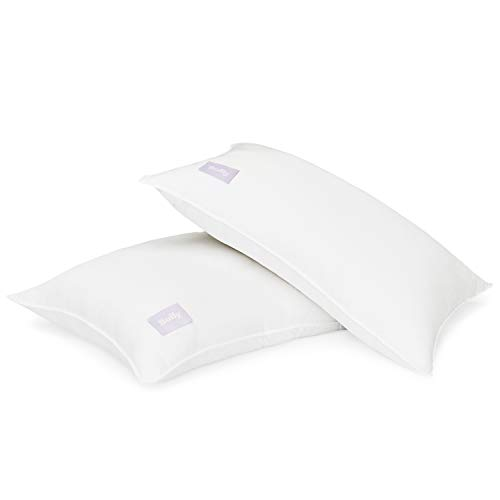 Buffy Cloud Pillow - Standard Bed Pillows -100% Eucalyptus Fabric - Cruelty Free - Hypoallergenic - Cool-to-The-Touch - Pack of 2 - Medium