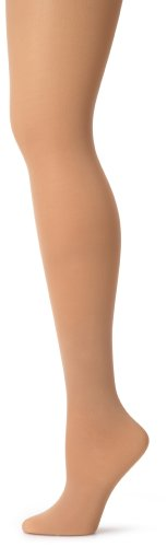 Capezio Dames Ultra Soft Footed Tight Panty, half ondoorzichtig