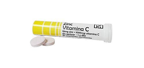 ZINC + VITAMINA C PH 20 comprimidos efervescentes, suplemento para las defensas, oxidación y formación colágeno