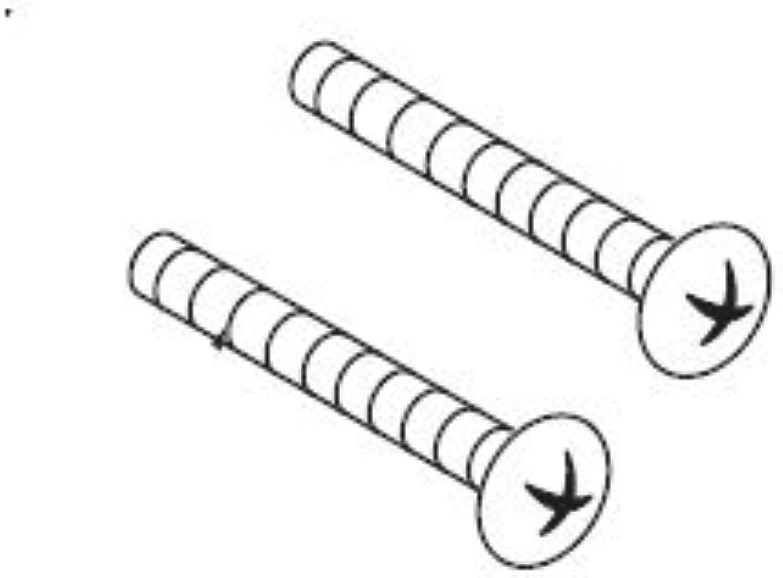 Moen 99498 Escutcheon Screws , Polished Brass Moen