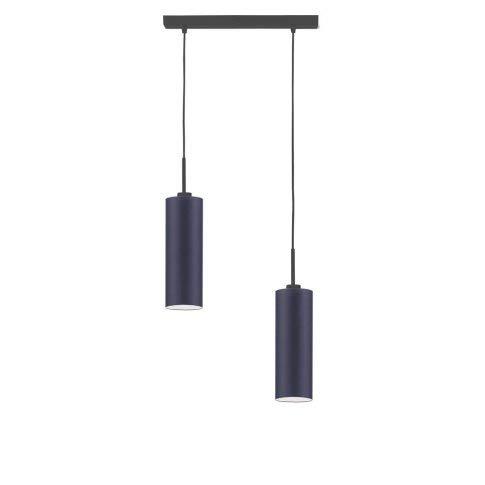 Madera - Lámpara de techo, color azul marino y negro