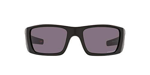 Oakley Men's OO9096 Fuel Cell Rectangular Sunglasses, Matte Black/Prizm Grey, 60mm