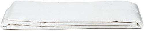 YUEDAI Ligera Lona Lona Tierra Sheet Covers Carpa Toldo cobertizo de Tela Impermeable UV al Aire Libre, Multi Tamaños, 120 G/M² Protegida (Color : White, Size : 2x10m)