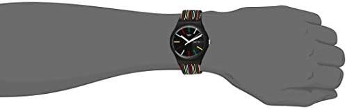Swatch I Love Your Folk Quartz Silicone Strap, Black, 20 Casual Watch (Model: SUOB729) WeeklyReviewer