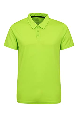 Mountain Warehouse Endurance Isocool Polo para Hombre - Top de protección UV, Camiseta Que Absorbe el Sudor, Parte de Arriba Transpirable - para el Verano, Correr Lima XL