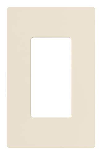 Lutron Claro 1 Gang Decorator Wallplate, CW-1-LA, Light Almond