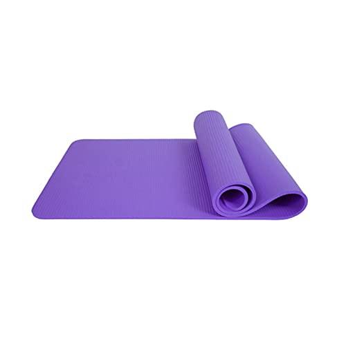 ZZRTEC Esterilla Deporte Antideslizante, TPE Esterilla De Yoga Y Alfombra Fitness, Adecuada para Pilates,Yoga, AeróBic Y Gimnasia(183 × 61 × 1,0 Cm) Purple