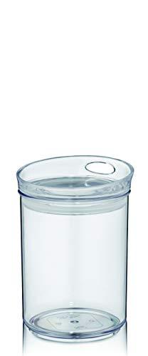 kela Boîte de conservation pour boîtes de conservation ronde ou rectangulaire. Tailles : boîtes en plastique empilables avec couvercles de rangement., rund 800ml