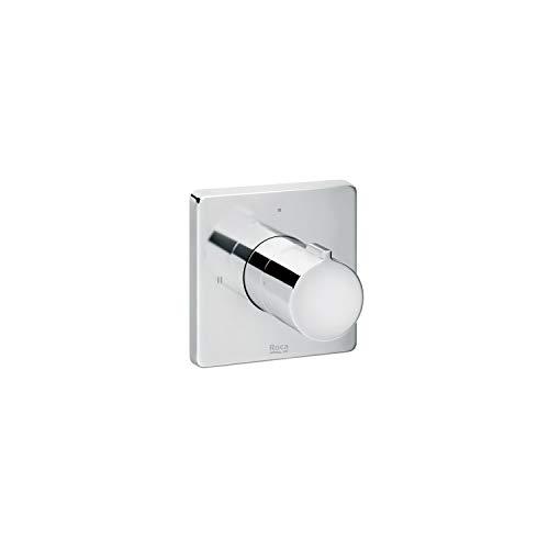 Mando de ducha inversor emportrado 2 vías Soft Roca, 6 x 8 x 8 centímetros, color cromado (Referencia: A5A1A4AC00)