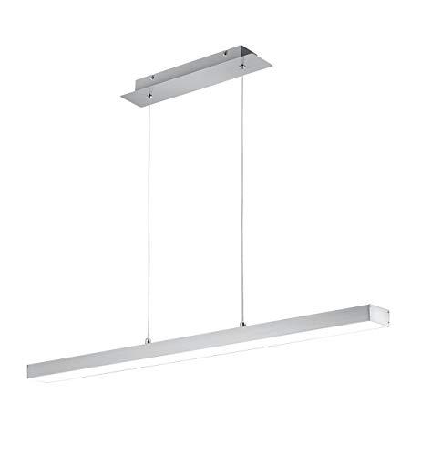 Reality Leuchten Agano R32801107 LED Pendelleuchte, Metall, 18 Watt, Nickel Matt, 4x fach Touch