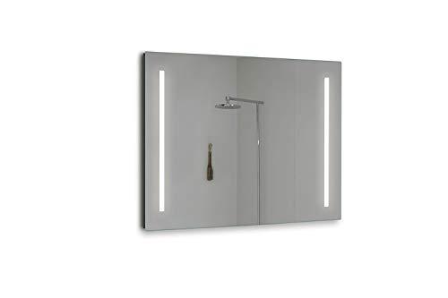 Espejo para el baño BATE 1000x800mm 5700 kluz brillante, potente y moderna, perfecto para el baño. [Clase de eficiencia energética A++]. IP44. baño iluminado. Gran calidad.
