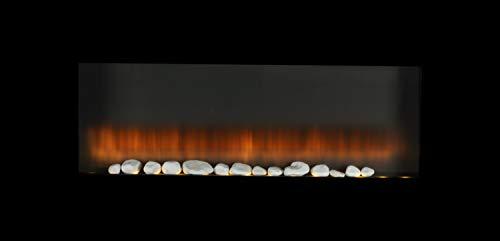 Alpina Chimenea eléctrica con Efecto Fuego, Panel de Pared, 1800-2000 W, Mando a Distancia