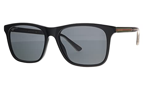 Gucci GG0381S 006 BLACK BLACK GREY SUNGLASSES