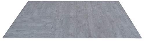 Creation Gross 6 Stück Bodenschutzmatte Holzoptik grau, 60x60*1cm, inkl. 12 Randstücke, Eva Schaumstoff, Gesamtfläche: ca.124cm x 186cm / 2,3m²