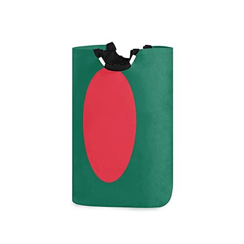 Wäschekorb mit Bangladesch Flagge, groß, wasserdicht, faltbar, Segeltuch, Wäschekorb mit Handgriffen für Aufbewahrungskorb, Kinderzimmer, Zuhause, Kinderzimmer, Babykorb