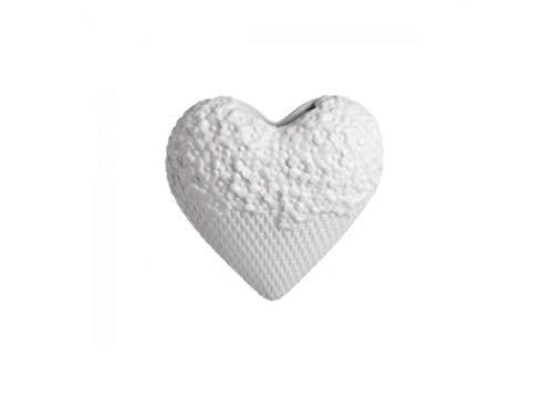 la Porcellana, umidificatore Leopoldina a Forma di Cuore, Colore: Bianco, 18cm