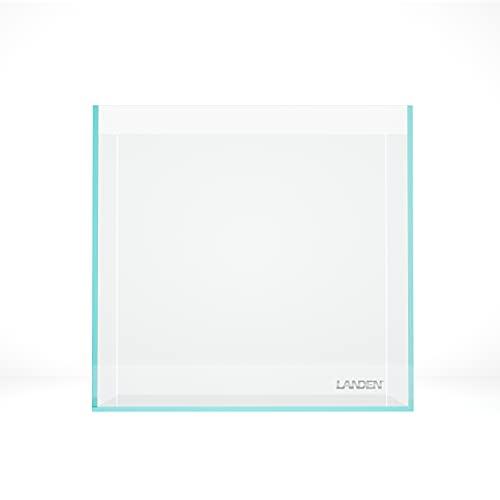 LANDEN 30C 7.1 Gallon Rimless Low Iron Aquarium Tank, 11.8' L × 11.8' W × 11.8' H (30cm x 30cm x 30cm) 5mm Thickness with Nano Foam Leveling Mat Included 111001
