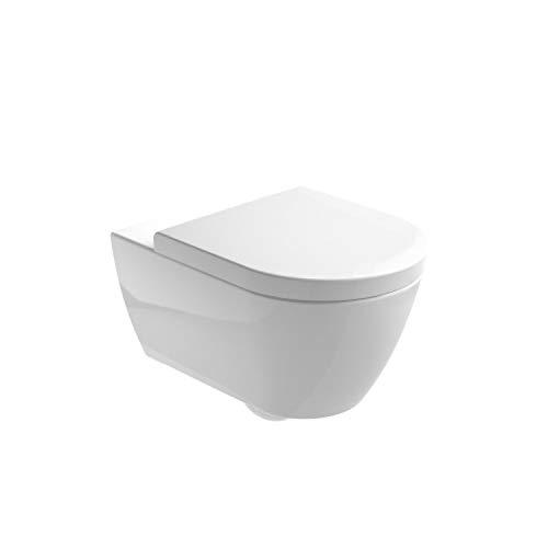 Gala Inodoro suspendido rimless de salida horizontal, colección Emma, color blanco, 54 x 36 x 36 centímetros (referencia: 3027201), estandar