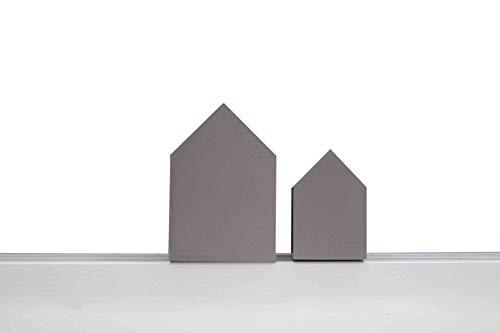 vonHollstein. EMI Kranz Aufstecker - Haus Set- zum Bestücken des EMI Kranzes in Natur oder Grau (Grau)