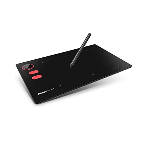 Fesjoy Tablette graphique, Tableta gráfica G20 de 10 lunas 21,4 * 14,4 cm Tablero grande Área exclusiva de pintura para teléfono con 8192 niveles de presión pasiva pluma 5080 LPI