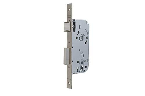 Tesa Assa Abloy 13458CHN Cerradura de embutir para puertas de madera Con Cilindro NiqueladoEntrada 50 mm / Frente Cuadrado 134
