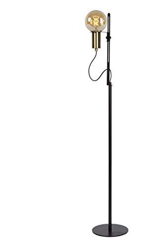 Lucide 45778/01/30 - Lámpara de pie, acero, 60 W, Negro, Oro Mate