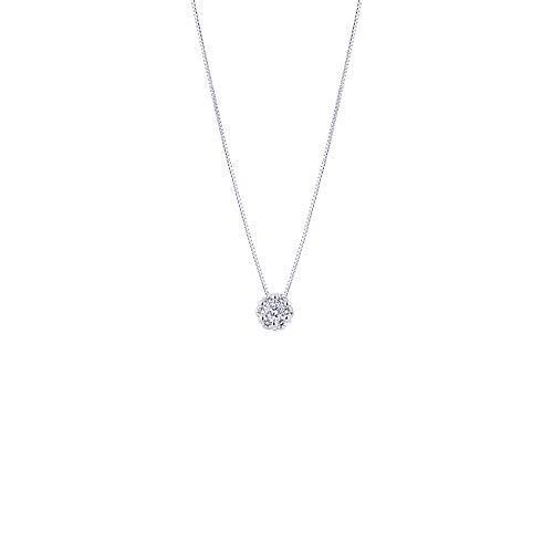 Gioielli di Valenza - Collana Punto Luce in Oro Bianco 18k con Diamanti - VPSP0002