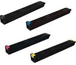 Sharp MX-3640N MX-2640 MX-3140 Compatible Toner Cartridge Set (Black, Cyan, Magenta, Yellow)
