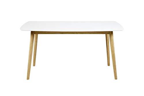 AC Design Furniture Esstisch Pernille, B: 150 x T:80 x H: 75,5 cm, MDF, Weiss