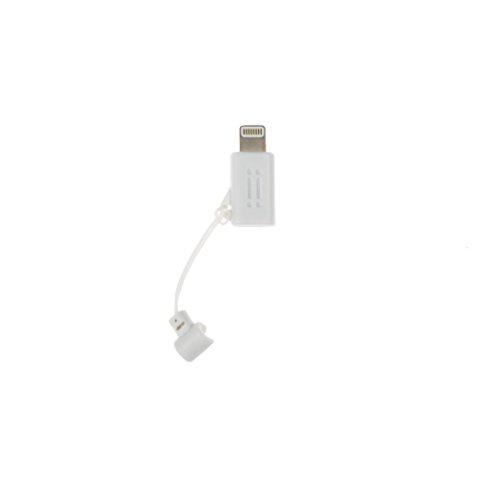 Aiino aidpmcrltng-WH Adaptador de Conector Lightning a Micro USB, Blanco