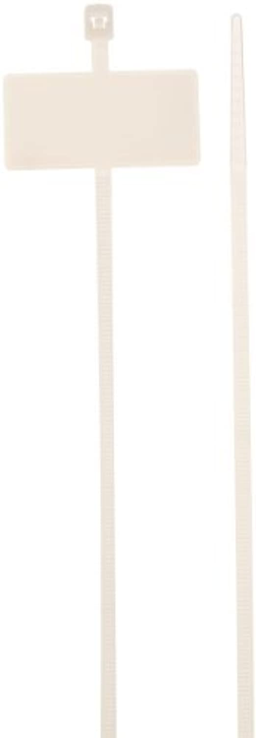 Morris Products 20363 Marker Nylon Cable Ties, 7-7 8 8 8 Length, 0.098 Width, 18lbs Tensile Strength, 1.97 Max Bundle Diameter (Pack of 100) by Morris Products B01M123VZA | Kaufen