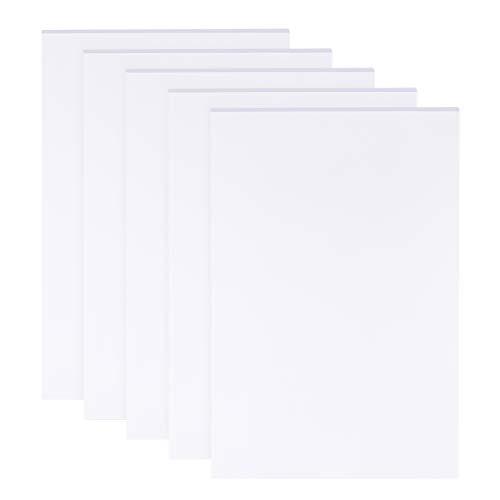 BENECREAT 5 Blatt 3mm weiße Schaumstoffplatten 30x20cm Rechteckschaum PVC-Blatt Poster Board Mount Board für Montage, Basteln, Modellieren, Kunst, Display, Schulprojekte