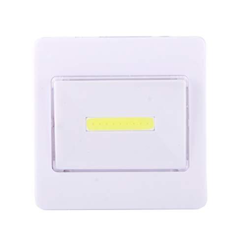 ZTH - Aplique de pared LED Mini Light White COB LED lámpara de noche con interruptor