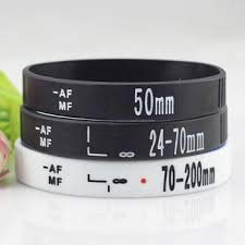 Unbekannt objektiv Armbänder Fotograf silikon Armband Armbänder