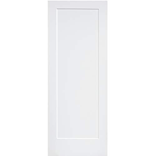 1-Panel Door, White Primed Shaker 80 in. x 18 in.
