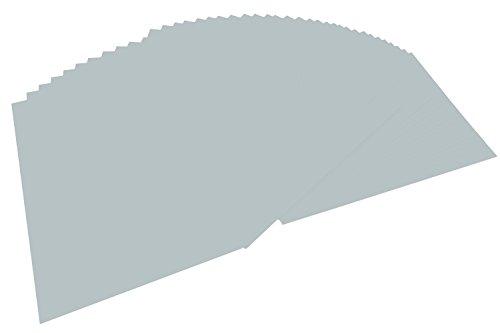folia 614/50 60 - Fotokarton DIN A4, 300 g/qm, 50 Blatt, silber matt - zum Basteln und kreativen Gestalten von Karten, Fensterbildern und für Scrapbooking