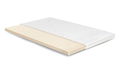 AS Meister Latex Topper 120x210 cm | Purotex | Weich | 7cm | 3D-Klimaband | 5cm...