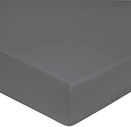 Blanc des Vosges - Gorro de 40 cm, percal de 80 hilos, sábana bajera de 140 x 190 cm, acero