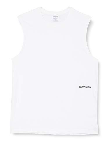 Calvin Klein Muscle Tank 2PK (Unisex) Camiseta de Pijama, Blanco, XL para Hombre