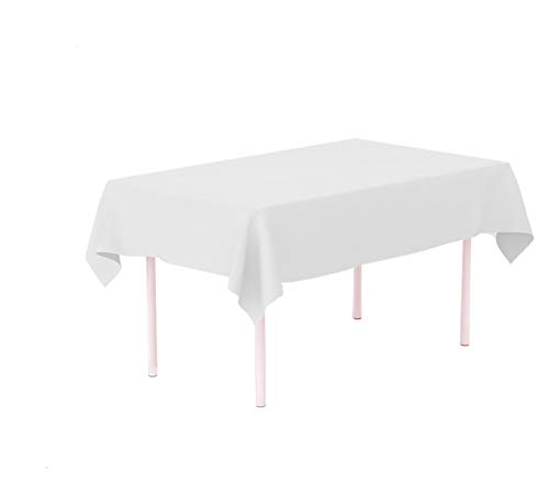 12-Pack White Disposable Plastic Tablecloths