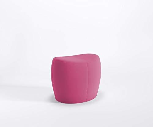 Marbet Style Designer - Puf para sentarse solo Lounge con reposapiés y funda de piel sintética Valencia