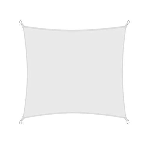 sun shade sail Toldo impermeable con bloqueador UV para patio, tela para pérgola, 2G6U1O (color: blanco, tamaño: 2 x 2 m)