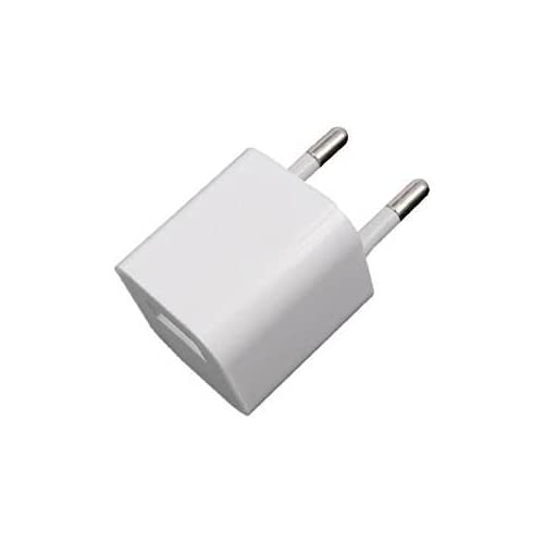 SKELPWORLD High Speed Wall Charger Power Adapter for iPod iPhone 5, 5s, 6, 6s, 7, 7 Plus-White