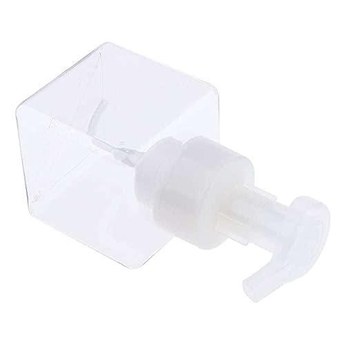 Yuyanshop 250 ml cuadrado plástico vacío champú cosmético espumante jabón contenedores spray mousses dispensador de espuma botellas accesorio de baño -, Clear (Transparente) - 7-12128_2