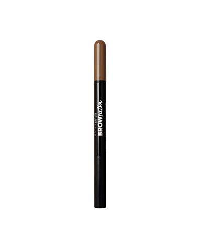 Maybelline Brow Satin Puder-Liner in Dark Brown, 2-in-1 Augenbrauenstift und Augenbrauenpuder, für...