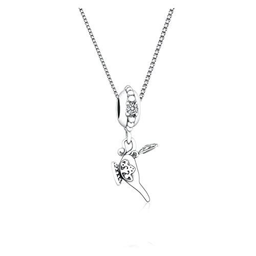 JIAQ 925 Sterling Silver Fairy Tale Magic Aladdin Lámpara Collar Collar Colgante para Mujeres Regalo Pareja Cadena Choker Bijoux 2021 Bijoux
